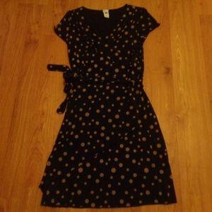 Like New! GAP Faux Wrap Polka Dot Dress Sz S